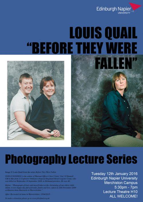 Edinburgh Napier University Creative Lecture Series - Louis Quail