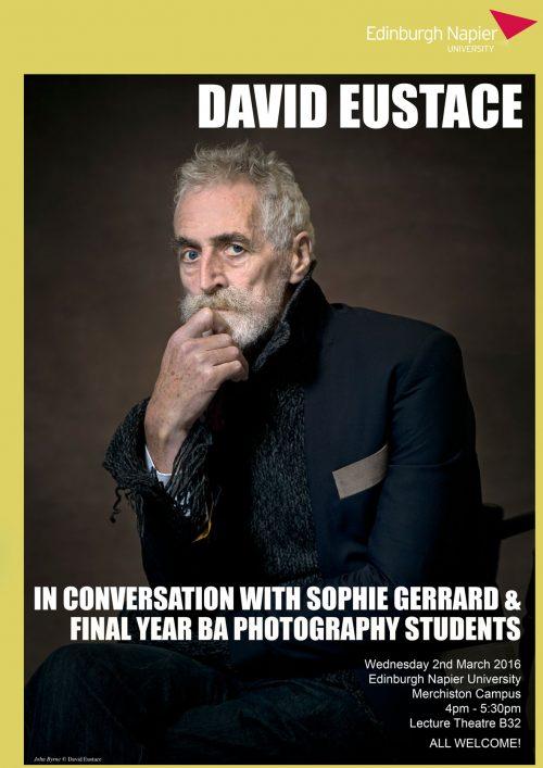 Edinburgh Napier University Creative Lecture Series - David Eustace poster