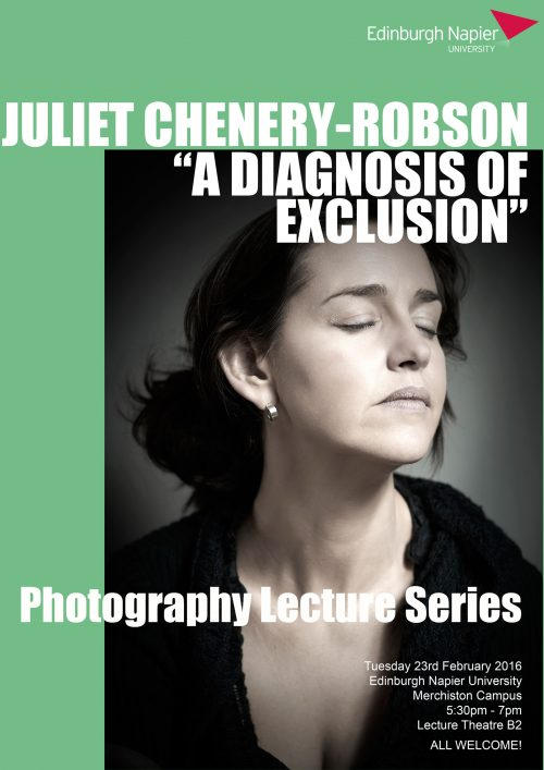 Edinburgh Napier University Creative Lecture Series - Juliet Chenery-Robson poster