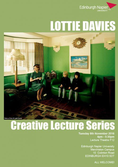 Edinburgh Napier University Creative Lecture Series - Lottie Davies poster